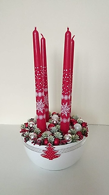 Dekorácie - Adventny svietnik - 11325448_
