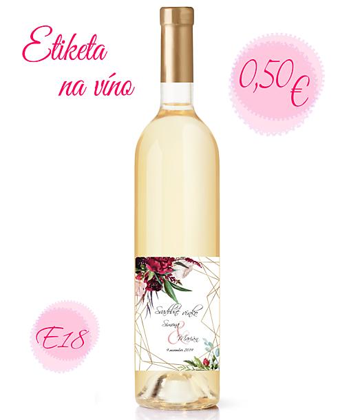 Etiketa na víno E18