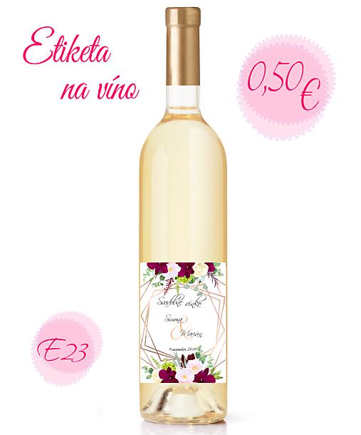 Etiketa na víno E23