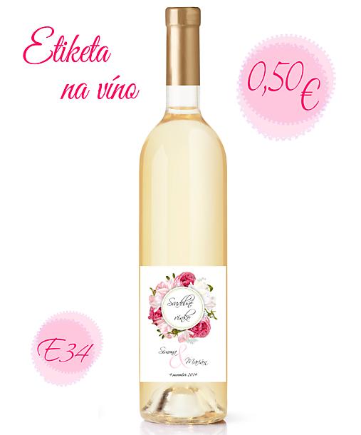 Etiketa na víno E34