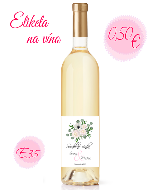 Etiketa na víno E35