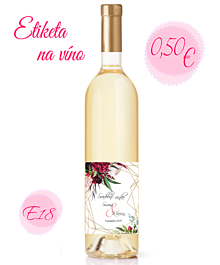 Papiernictvo - Etiketa na víno E18 - 11325311_