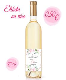 Papiernictvo - Etiketa na víno E19 - 11325325_
