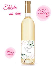 Papiernictvo - Etiketa na víno E21 - 11325368_