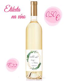 Papiernictvo - Etiketa na víno E22 - 11325374_