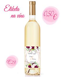 Papiernictvo - Etiketa na víno E23 - 11325386_