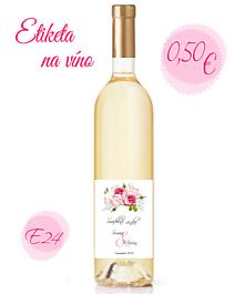Papiernictvo - Etiketa na víno E24 - 11325394_