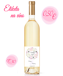 Papiernictvo - Etiketa na víno E30 - 11325403_