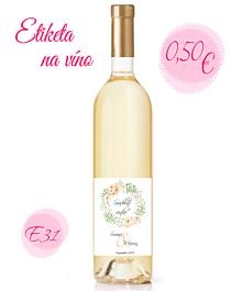 Papiernictvo - Etiketa na víno E31 - 11325405_