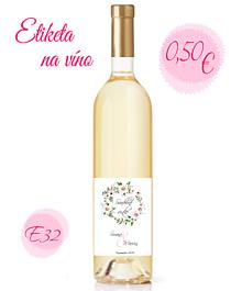 Papiernictvo - Etiketa na víno E32 - 11325422_