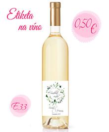 Papiernictvo - Etiketa na víno E33 - 11325435_