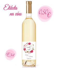 Papiernictvo - Etiketa na víno E34 - 11325439_
