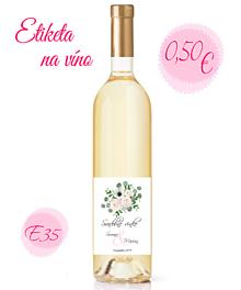 Papiernictvo - Etiketa na víno E35 - 11325453_