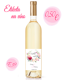 Papiernictvo - Etiketa na víno E39 - 11328516_