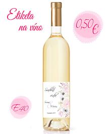 Papiernictvo - Etiketa na víno E40 - 11328565_