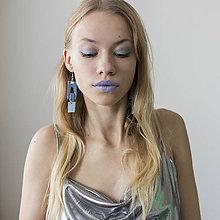 Náušnice - Náušnice blue - 11326566_