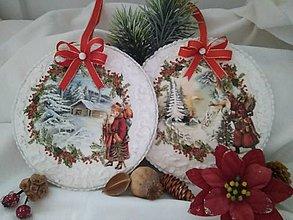 Dekorácie - Veľká vianočná ozdoba s vianočným deduškom - 11328293_
