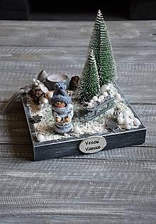 """Dekorácie - zimný svietnik """"Chlapček v lese"""" - 11328603_"""