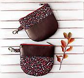 Peňaženky - Peňaženka Malé lesné plody s koženkou - 11326091_