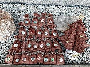 Úžitkový textil - Adventný kalendár. - 11327720_