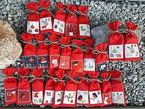 Úžitkový textil - Adventný kalendár. - 11327768_