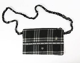 Kabelky - Károvaná crossbody kabelka GRUNGE - 11328640_