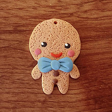 Dekorácie - FIMO perníček - chlapec - 11325610_