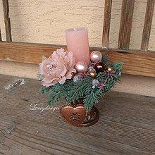 Dekorácie - vianočný svietnik - 11326305_