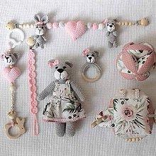 Hračky - slečna Macíková -ružovo kvetinková kolekcia - 11332887_