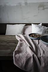 Úžitkový textil - Ľanový obrus staroružový (140cmx300cm) - 11332373_