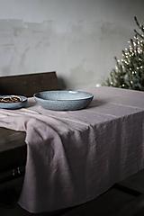 Úžitkový textil - Ľanový obrus staroružový (140cmx300cm) - 11332375_