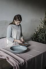 Úžitkový textil - Ľanový obrus staroružový (140cmx300cm) - 11332376_