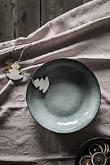 Úžitkový textil - Ľanový obrus staroružový (140cmx300cm) - 11332378_
