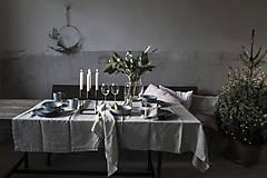 Úžitkový textil - Ľanový obrus staroružový (140cmx300cm) - 11332383_