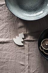Úžitkový textil - Ľanový obrus staroružový (140cmx300cm) - 11332384_