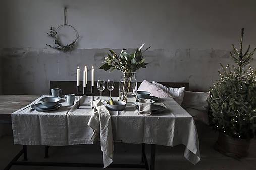 Úžitkový textil - Ľanový obrus natural - 11332351_