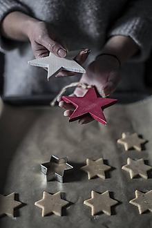 Dekorácie - Veľká hviezda (Biela) - 11330484_