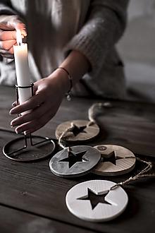 Dekorácie - Hviezda v kruhu (Šedá) - 11330536_