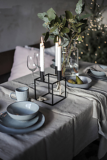 Svietidlá a sviečky - Kubický svietnik - 11331555_
