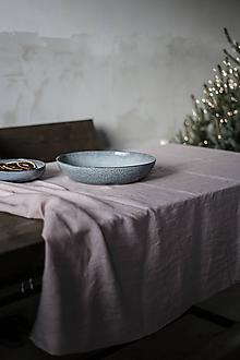 Úžitkový textil - Ľanový obrus staroružový - 11332375_