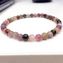 Náramky - Multicolor Tourmaline Bracelet / Elastický náramok s pravým farebným turmalínom - 11331651_