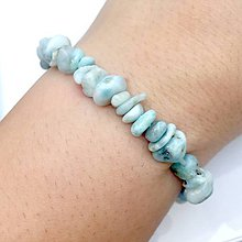 Náramky - Natural Larimar Bracelet / Elastický náramok s larimarom - 11331662_