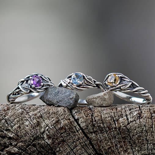 Prstene - Snubáčik lipou ovinutý   (so syntetickým zirkónom) - 11330945_