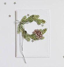 Papiernictvo - Vianočná pohľadnica, venček - 11331693_