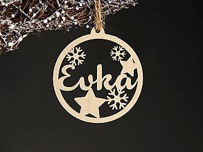 Dekorácie - Vianočná guľa s menom - 11334053_