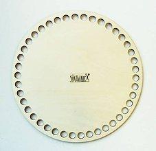 Polotovary - Dno na košík, kruh, Ø 20 cm - 11331483_