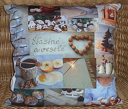 Úžitkový textil - Vankúš Slovenské Vianoce - 11333098_