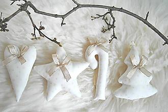 Dekorácie - Vianočné ozdoby-zlato-biele - 11332195_