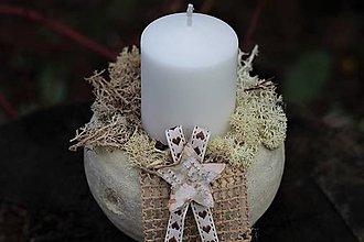Dekorácie - Vianočný svietnik - 11332278_