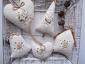 Dekorácie - Vianočné ozdoby na zavesenie - 11332985_